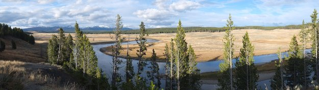 Hayden Valley, where many wildlife enthusiasts with big telescopes gather to watch animals very far away across the river