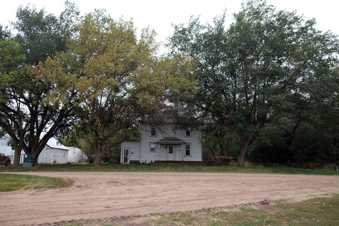 The farmhouse where Greta's grandmother lived, now unoccupied.