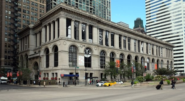 In a city renowned for its tall buildings, I've aways loved this short palladian on Michigan Ave.