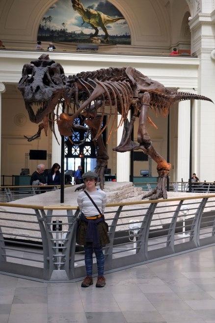 A peak moment for a dinosaur nerd, Greta meets Sue