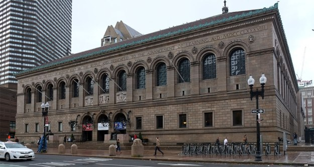 the Boston Public Library, McKim Mead and White