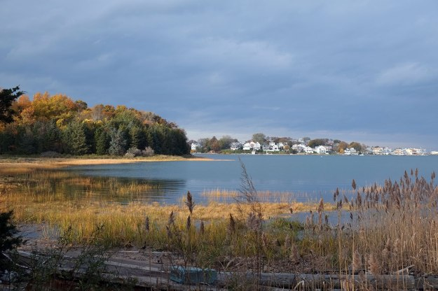 Olmsted designed a residential development on a neck in Hingham, but it was never built out. It is now an open space reserve, called World's End.