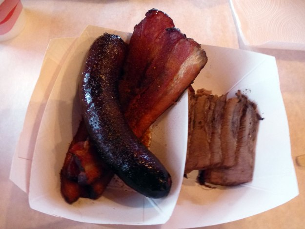 Sausage, Pork Belly, Brisket